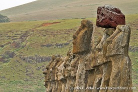 Moai at ceremonial ahu of Tongariki site, Easter Island © Claudio F. Vidal, Far South Expeditions