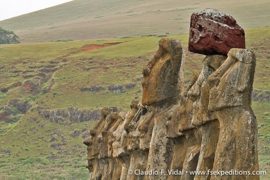 Moai at ceremonial ahu of Tongariki site, Easter Island © Claudio F. Vidal, Far South Expeditions